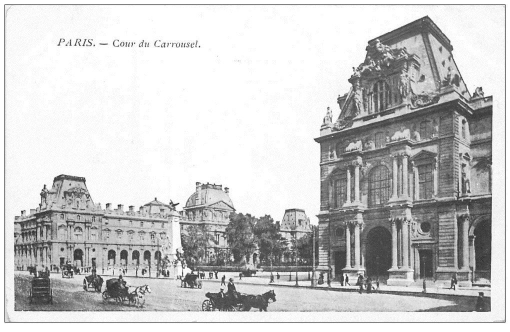 carte postale ancienne PARIS Ier. Cour du Carrousel