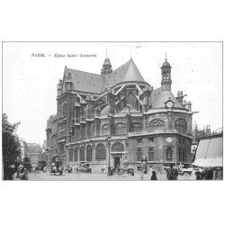 carte postale ancienne PARIS Ier. Eglise Saint-Eustache
