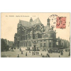 carte postale ancienne PARIS Ier. Eglise Saint-Eustache 1906
