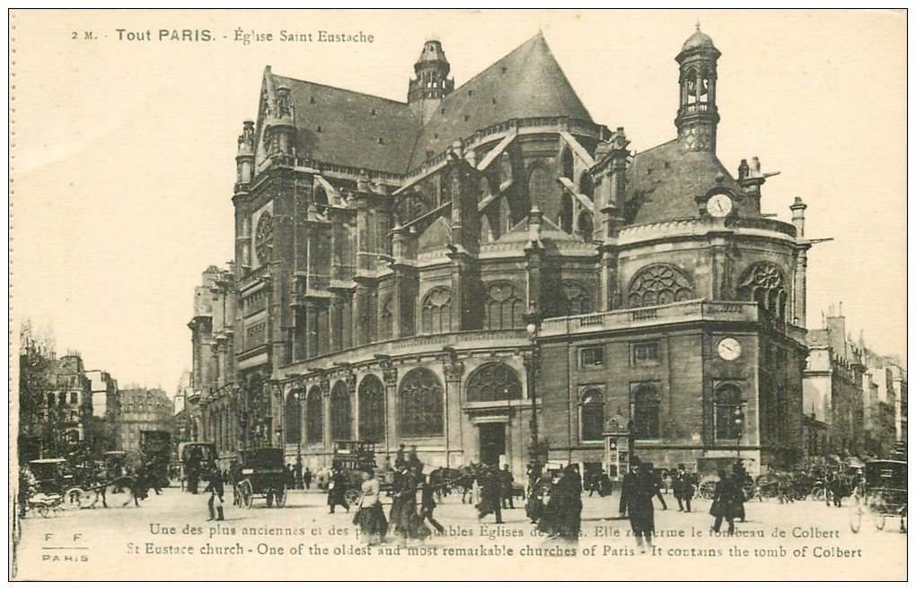 carte postale ancienne PARIS Ier. Eglise Saint-Eustache 2M