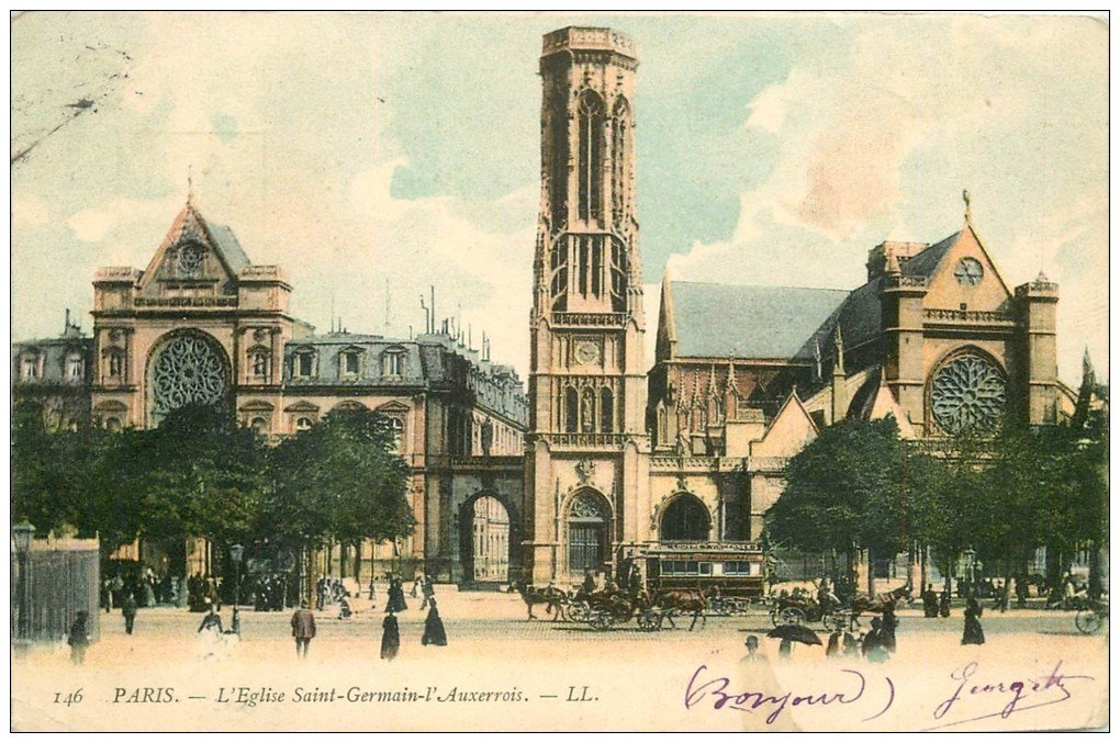 carte postale ancienne PARIS Ier. Eglise Saint-Germain l'Auxerrois 1905