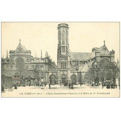 carte postale ancienne PARIS Ier. Eglise Saint-Germain l'Auxerrois. Edition Unic 113