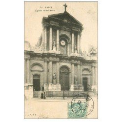 carte postale ancienne PARIS Ier. Eglise Saint-Roch 1903