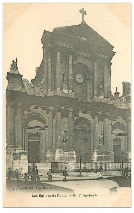 carte postale ancienne PARIS Ier. Eglise Saint-Roch n°69