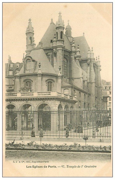 carte postale ancienne PARIS Ier. Eglise Temple de l'Oratoire