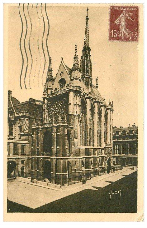 carte postale ancienne PARIS Ier. La Sainte Chapelle 1930. Tampon Bonvoisin Avenue de la République à Vincennes