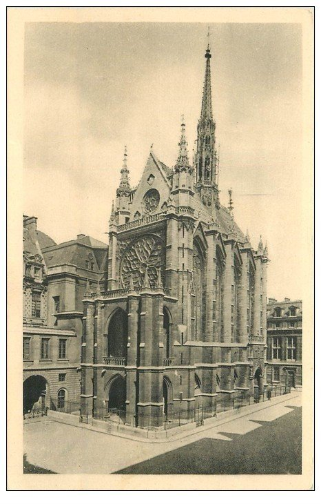 carte postale ancienne PARIS Ier. La Sainte Chapelle n°1