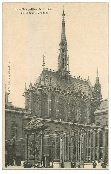 carte postale ancienne PARIS Ier. La Sainte Chapelle n°28