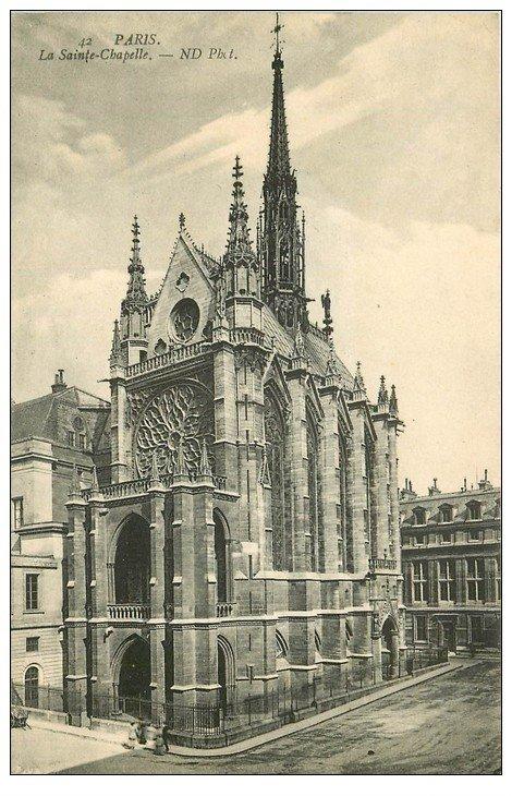 carte postale ancienne PARIS Ier. La Sainte Chapelle Rosace ND 42