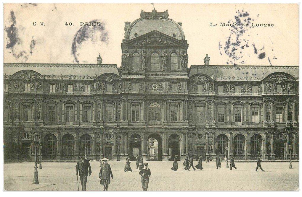 PARIS 01. Le Musée du Louvre 1906