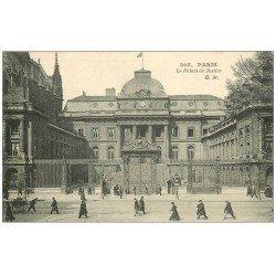 carte postale ancienne PARIS Ier. Le Palais de Justice Horloge CM 305