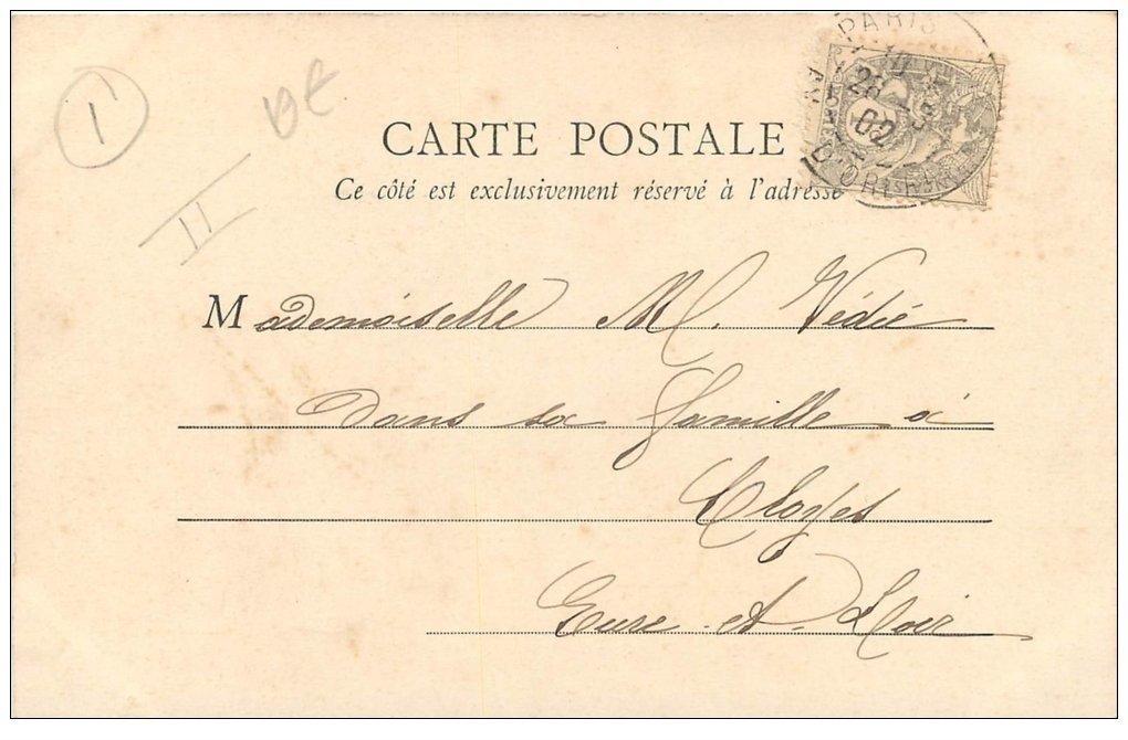 PARIS 01 Le Palais de Justice Timbre 1 Centime 1902