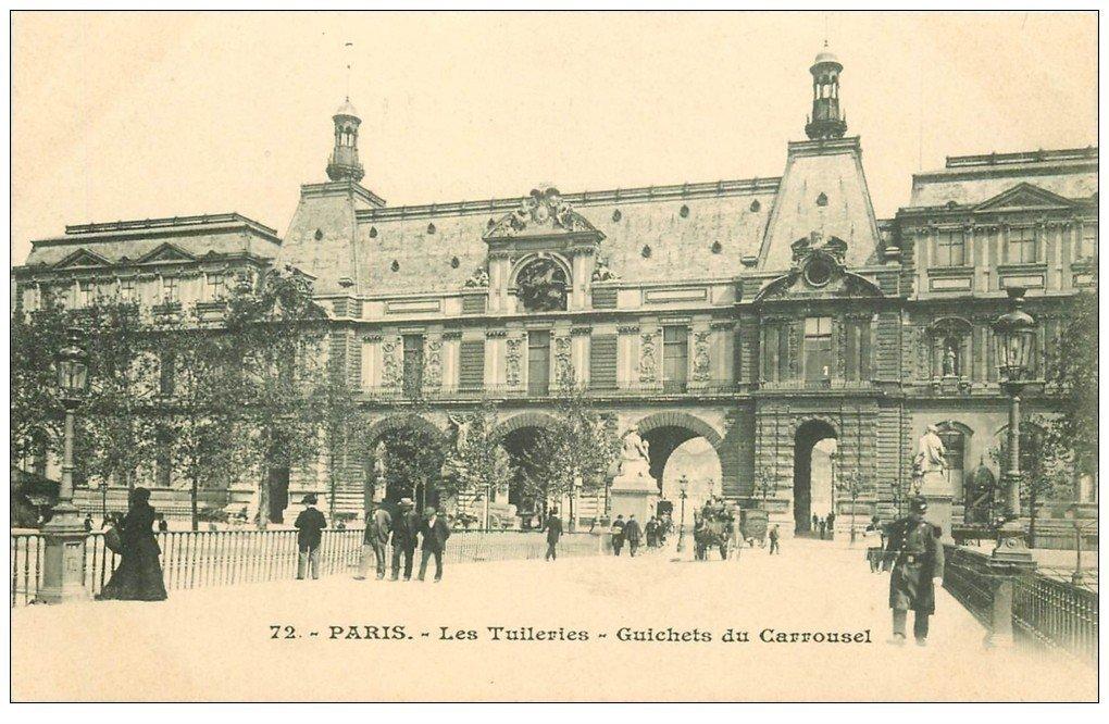 carte postale ancienne PARIS Ier. Les Tuileries Guichets du Carrousel