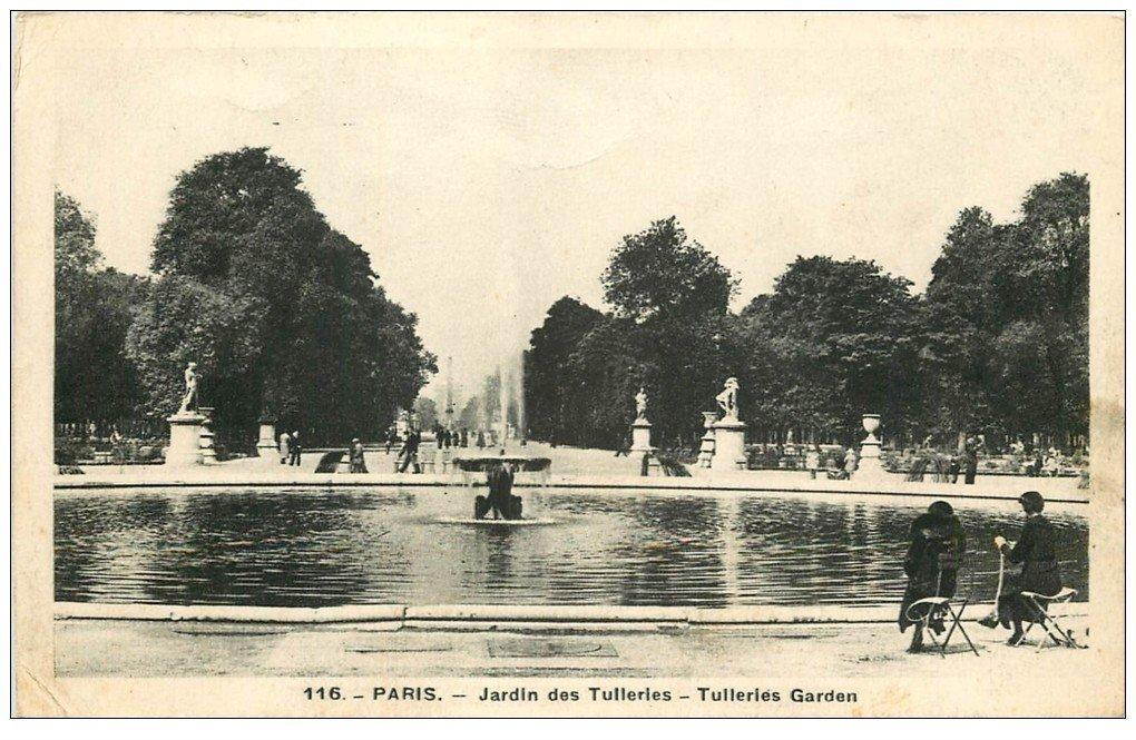 carte postale ancienne PARIS Ier. Les Tuileries Jardin 1939
