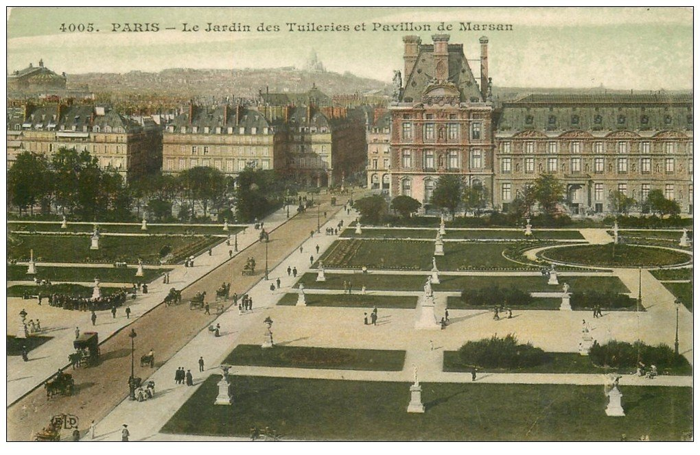 carte postale ancienne PARIS Ier. Les Tuileries Pavillon de Marsan