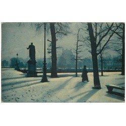 carte postale ancienne PARIS Ier. Les Tuileries sous la neige 1936