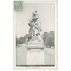 carte postale ancienne PARIS Ier. Monument Quand Même Jardins des Tuileries. Tailleur Pavie Bd Clichy