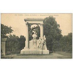 carte postale ancienne PARIS Ier. Monument Waldeck-Rousseau Jardins des Tuileries