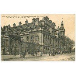 carte postale ancienne PARIS Ier. Palais de Justice Grille Honneur
