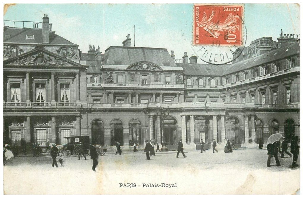 carte postale ancienne PARIS Ier. Palais Royal 1910