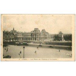 carte postale ancienne PARIS Ier. Palais Tuileries et Louvre 1940