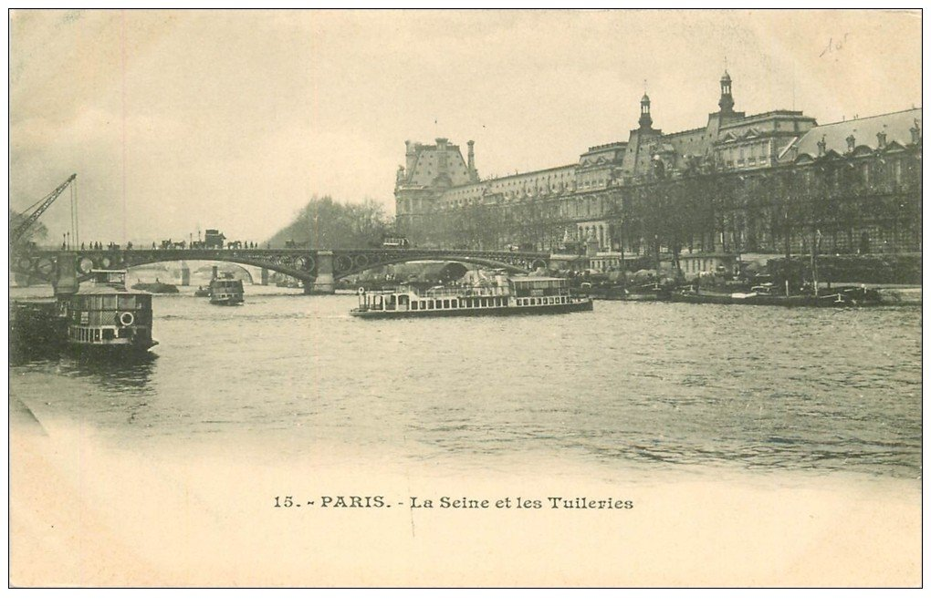 PARIS 01 Palais Tuileries et Seine