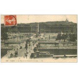 PARIS 01 Place Concorde 1911 et Seine