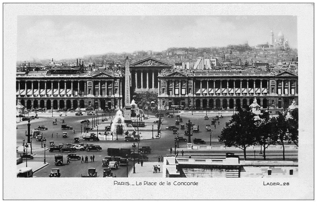carte postale ancienne PARIS Ier. Place Concorde 28
