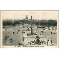 carte postale ancienne PARIS Ier. Place Concorde 59