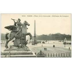 carte postale ancienne PARIS Ier. Place Concorde Obélisque de Louxor