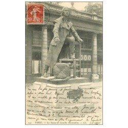 carte postale ancienne PARIS Ier. Statue Camille Desmoulins 1906