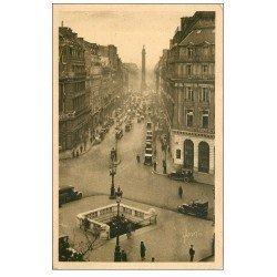 carte postale ancienne PARIS II° Bouche du Métropolitain Rue de la Paix