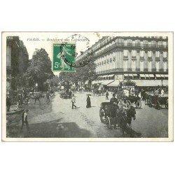 carte postale ancienne PARIS II° Boulevard des Capucines 1908