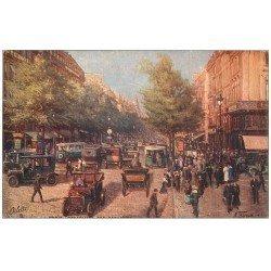 carte postale ancienne PARIS II° Boulevard des Capucines. Edition Tuck Oilette par Béraud