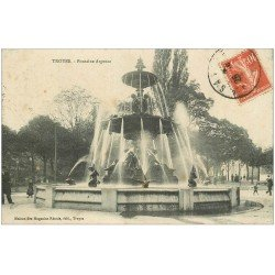 carte postale ancienne 10 TROYES. Fontaine Argence 1908