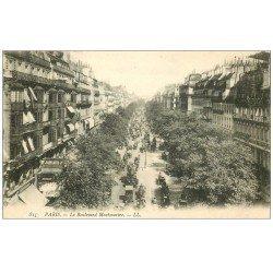carte postale ancienne PARIS II° Boulevard Montmartre à droite Reutlinger