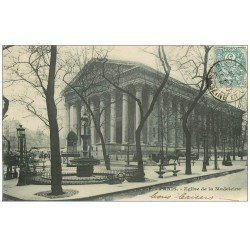 carte postale ancienne PARIS II° Eglise de la Madeleine 1902