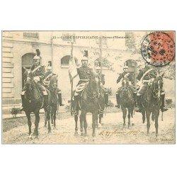 carte postale ancienne PARIS II° Garde Républicaine. Revue d'Honneur 1906