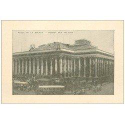 PARIS 02. La Bourse des valeurs. Carte publicitaire 120 rue Réaumur