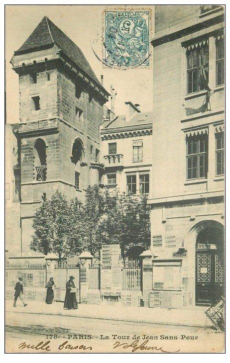 carte postale ancienne PARIS II° La Tour de Jean-sans-Peur 1904