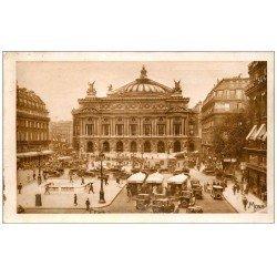 PARIS 02 Place Opéra Théâtre et Autobus à Plateforme. Bouche du Métropolitain