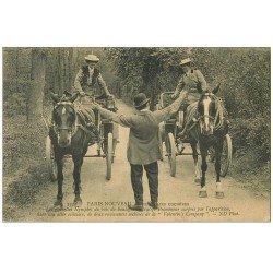 carte postale ancienne PARIS NOUVEAU. Nos Jolies Cochères de la Valentin's Company au Bois de Boulogne 1909