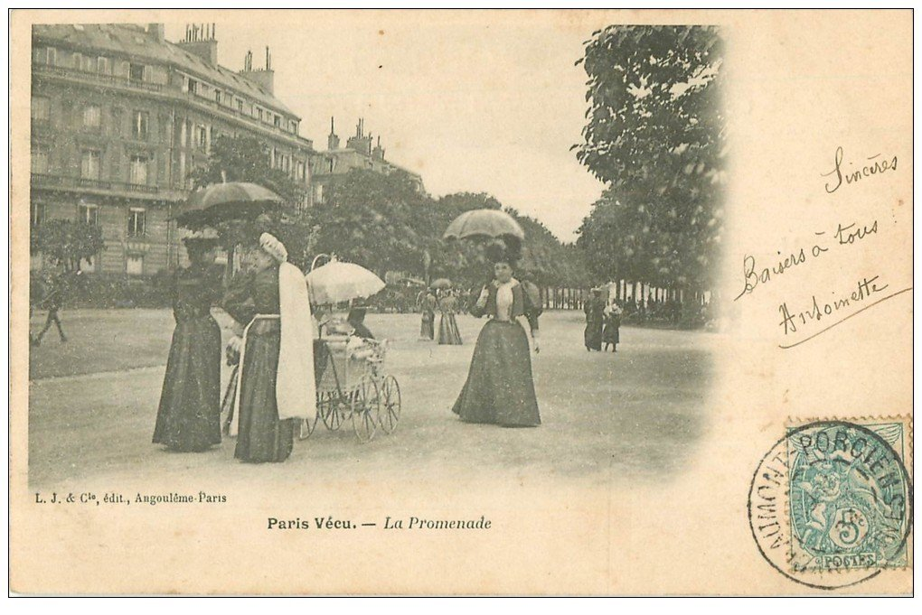 paris vecu la promenade 1904 nourrice et landau. Black Bedroom Furniture Sets. Home Design Ideas