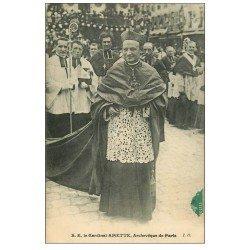 carte postale ancienne PARIS. Cardinal Amette Archevêque