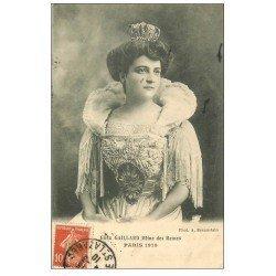 carte postale ancienne PARIS. Elisa Gaillard Reine des Reines en 1910 Fête des Blanchisseuses