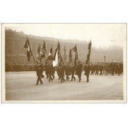 PARIS. Funérailles Maréchal Foch 1929. Drapeaux Combattants alliés