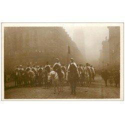 carte postale ancienne PARIS. Funérailles Maréchal Foch 1929. Escorte Spahis Marocains