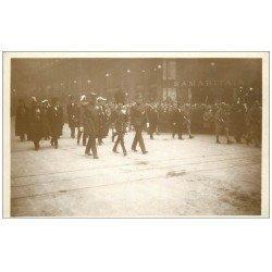 carte postale ancienne PARIS. Funérailles Maréchal Foch 1929. Les Princes Galles, Belgique et Monaco