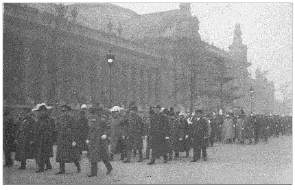carte postale ancienne PARIS. Funérailles Maréchal Joffre 1931. Corps Diplomatique