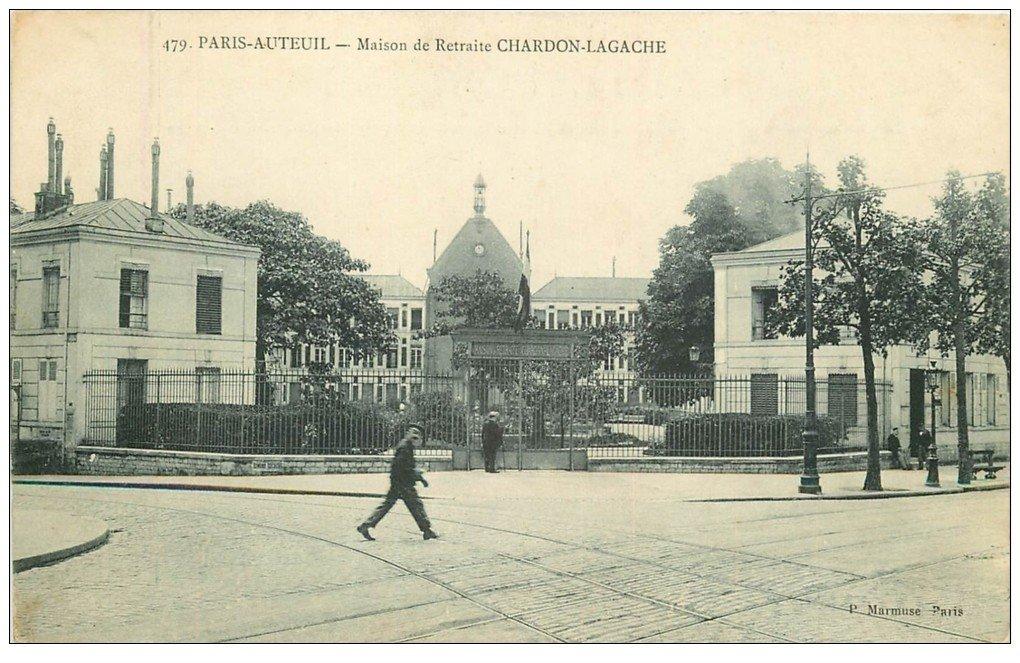 carte postale ancienne PARIS. Hôpital Hôpitaux. Maison de Retraite Chardon-Lagache 1908 Auteuil